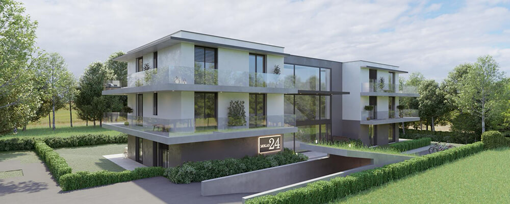 Promotion immobilière, vue extérieure, SPG Molan 24, Genève