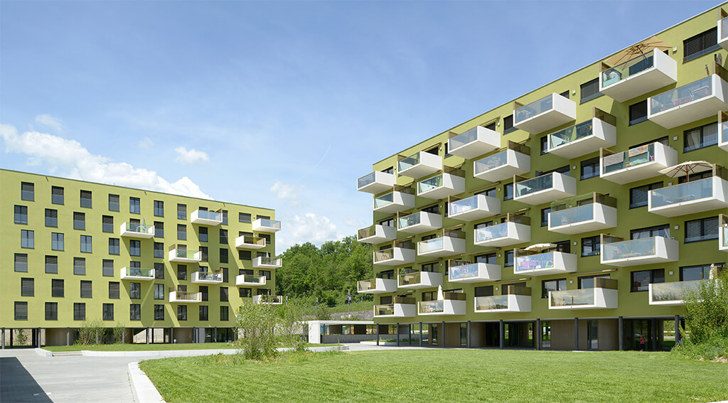 """""""Les Plages de Dardagny"""": this Minergie-certified development, completed in 2016, is a bona fide example of sustainable development"""