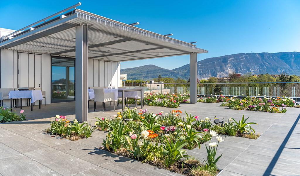 Siège de la SPG, terrasse panoramique