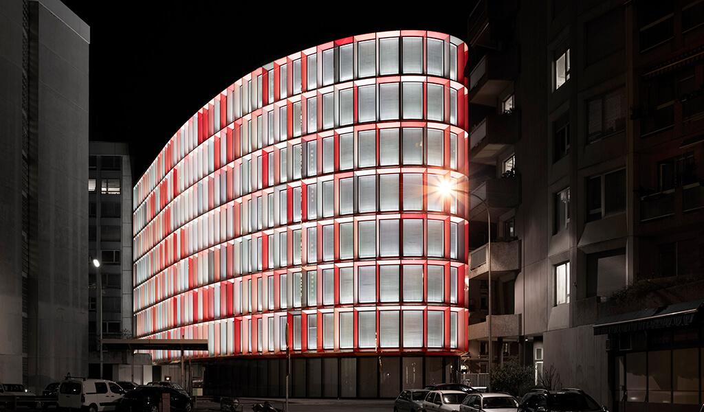 Le Saint-Georges Center, réalisation d'Asset Development, nuit