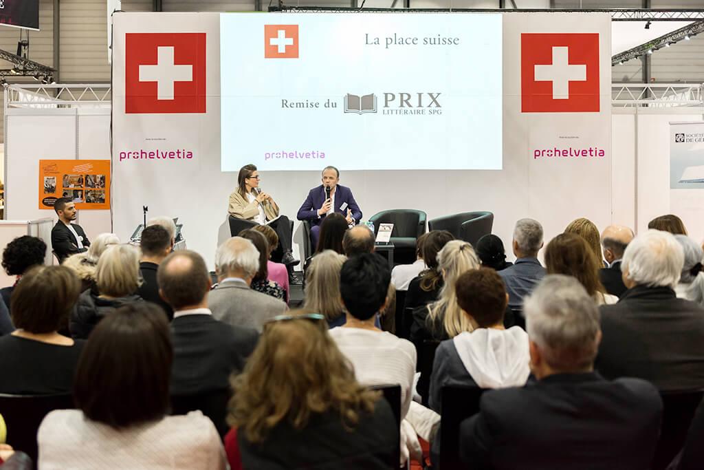 Remise du Prix littéraire SPG du premier roman romand 2019, lors du Salon du Livre de Genève